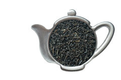 Tea in strainer. Royalty Free Stock Images