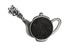 Tea in strainer. Tea in strainer isolated on white background Stock Images
