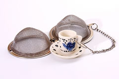 Tea-strainer. Royalty Free Stock Photography
