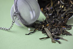 Tea and Strainer Stock Photography