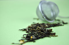Tea and Strainer Royalty Free Stock Photography