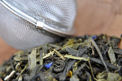 Tea and Strainer Stock Image
