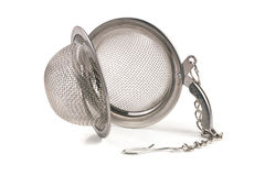 Tea strainer on a chain isolated  white background Royalty Free Stock Photography