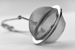 Tea strainer close-up on white background Stock Images