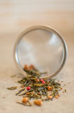 Tea strainer closeup Royalty Free Stock Images