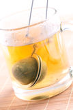 Tea strainer in cup Stock Images