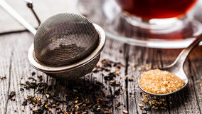 Tea strainer Royalty Free Stock Image