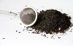 Tea Strainer and Tea Stock Photo