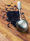 tea strainer with tea Royalty Free Stock Photography