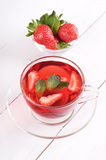 Tea with strawberries and mint Royalty Free Stock Image