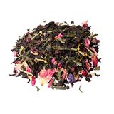 Tea with strawberry flavor and passion fruit. High resolution photo Royalty Free Stock Photo
