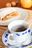 Tea an strudel Royalty Free Stock Image
