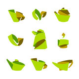 Tea. Stylish elements from the folded strips. Stock Photos