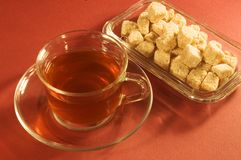 Tea and sugar Stock Images