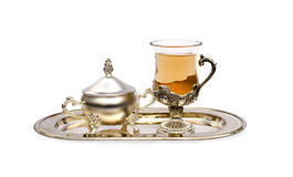 Tea and sugar bowl Royalty Free Stock Photos