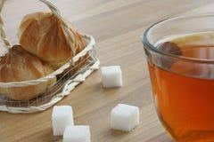 Tea, sugar and cookies Stock Photography