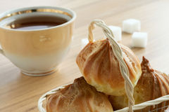 Tea, sugar and cookies Royalty Free Stock Photography