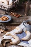 Tea and sugar cookies Stock Photos