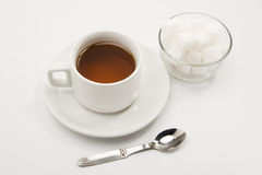 Tea & Sugar cubes Royalty Free Stock Images