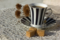 Tea with sugar Stock Images