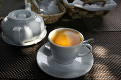 Tea  in sunlight Royalty Free Stock Photos