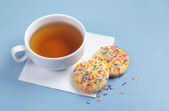 Tea and sweet cookies Royalty Free Stock Photo