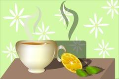 Tea. Sweet homes tea. Vector illustration Stock Photography