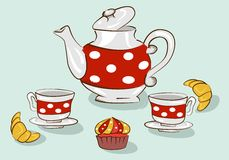 Tea sweet set Stock Photo