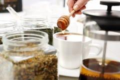 Tea sweetened with honey Stock Photos