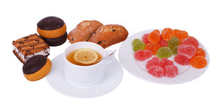 Tea and sweets Stock Photo