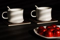 Tea with sweets. Stock Photos