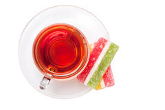 Tea with sweets Royalty Free Stock Photo