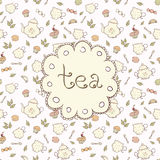 Tea and sweets Stock Images