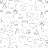 Tea,sweets seamless pattern Royalty Free Stock Image