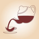 Tea symbol. Stock Images