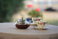 Tea table Royalty Free Stock Photo