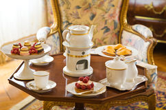 Tea table setting Royalty Free Stock Images