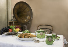 Tea table - 19th century Stock Photo