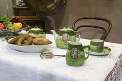 Tea table  - 19th century Royalty Free Stock Image