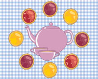 Tea and tarts Stock Images