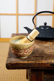 Tea on tatami Royalty Free Stock Images