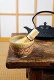 Tea on tatami Royalty Free Stock Images