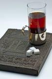 Tea with tea-brick Stock Photography