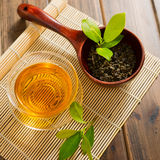 Tea and tea leaves Royalty Free Stock Photography