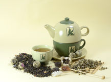 Tea and tea-pot Royalty Free Stock Photography