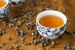 Tea with teacups Royalty Free Stock Photo