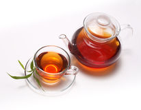 Tea and teapot Royalty Free Stock Photo