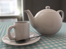 Tea and teapot Stock Image