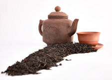Tea a teapot and a cup Stock Image