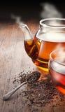 Tea Teapot Cup Background Stock Photos